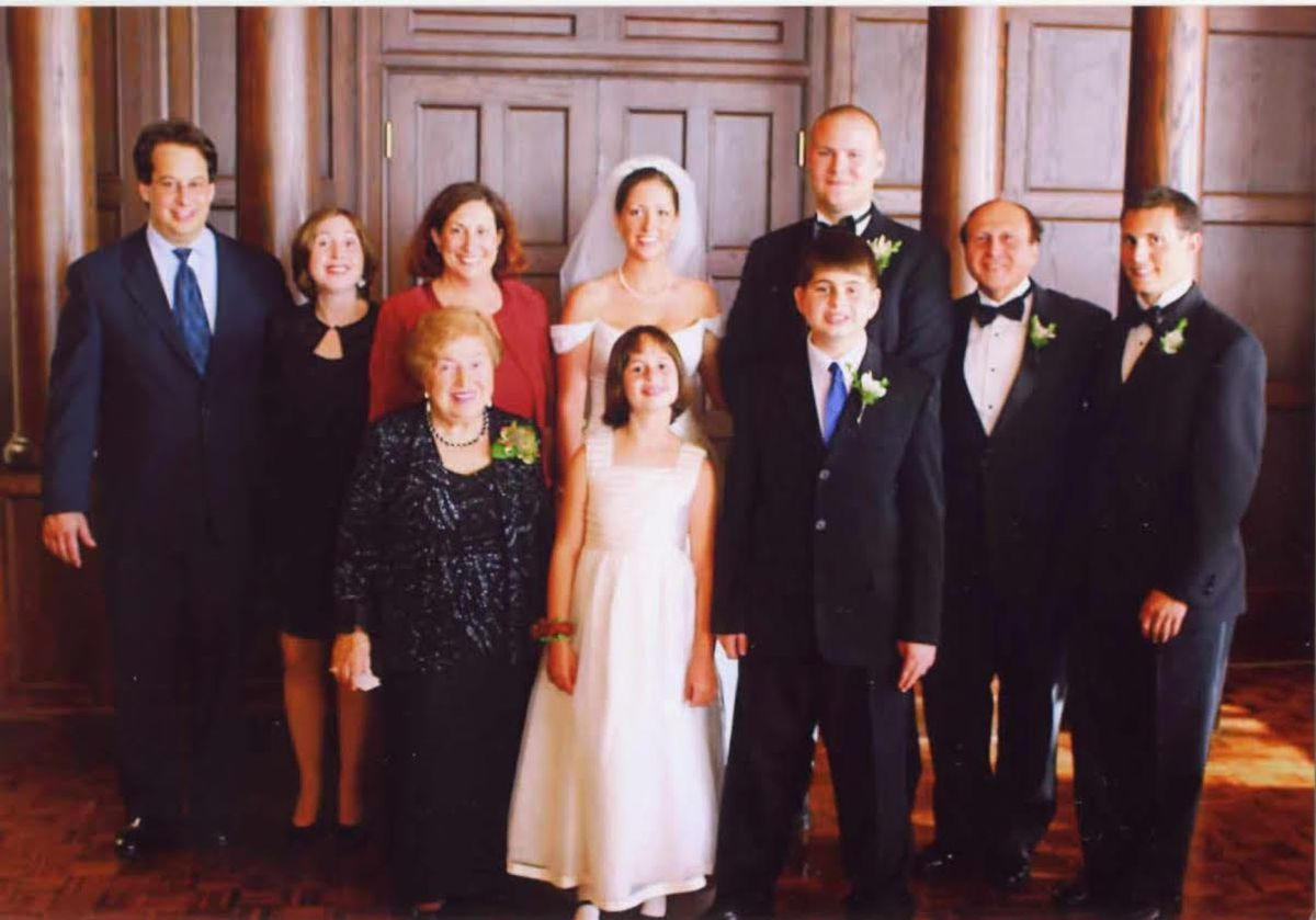 Barbara Steiner and her family at her grandson Aaron's wedding.   Provided photo
