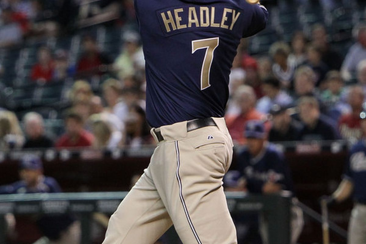Chase Headley might be one of the best third basemen in fantasy baseball if weren't for his offense-killing home ballpark. (Photo by Christian Petersen/Getty Images)