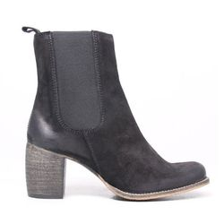 """<b>Jeffrey Campbell</b> Black Suede Distressed Boot, <a href=""""http://www.oaknyc.com/jeffrey-campbell-womens-black-distressed-areas-boot.html"""">$194</a> at Oak"""
