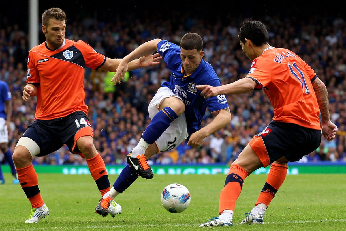 Ross Barkley in action against Queens Park Rangers during the first leg Premiership fixture in August 2011.  (Photo by Alex Livesey/Getty Images)