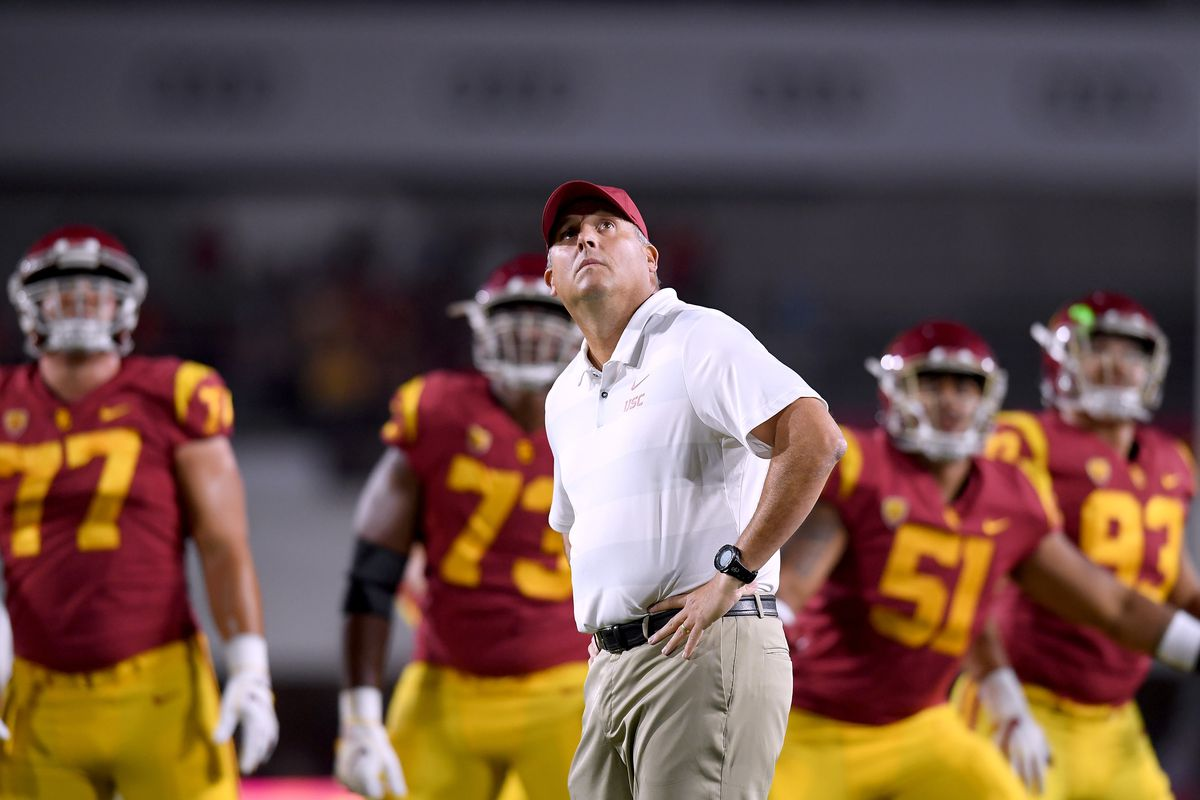 Should Clay Helton be on the hot seat at underachieving USC ... 5764da495