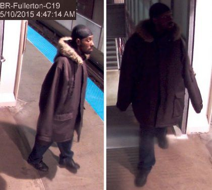 Surveillance footage of a man suspected of attempting to sexually assault a woman on a North Side Red Line train early Sunday | Chicago Police