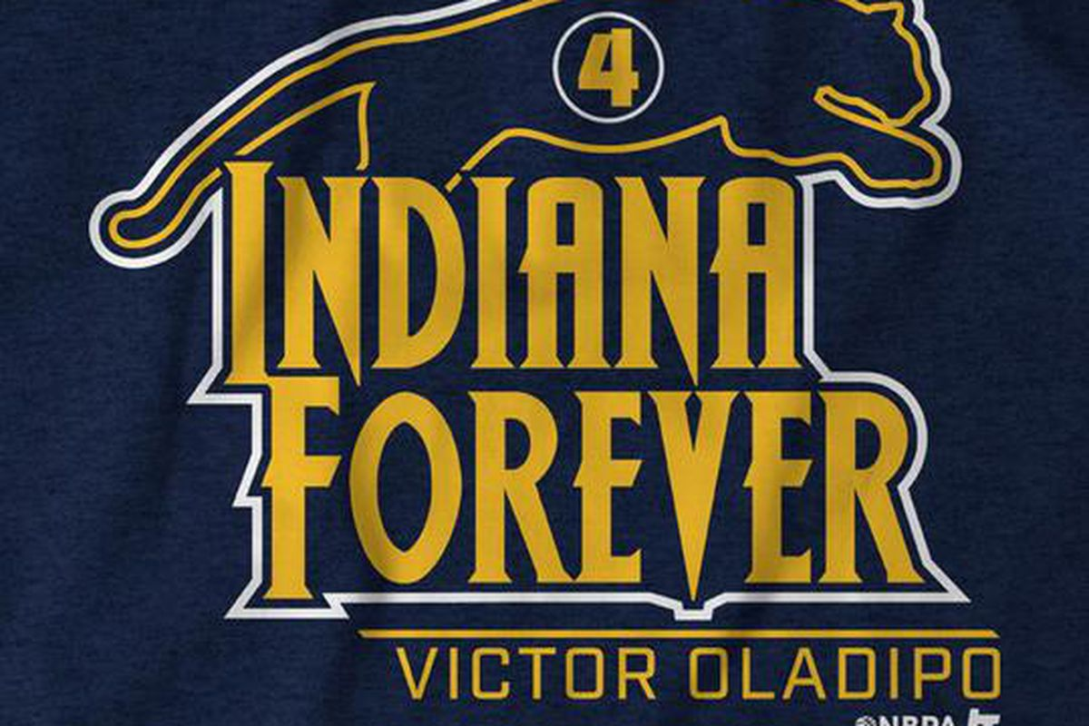 reputable site c7ef7 5850c Victor Oladipo costume inspires 'Indiana Forever' t-shirt ...