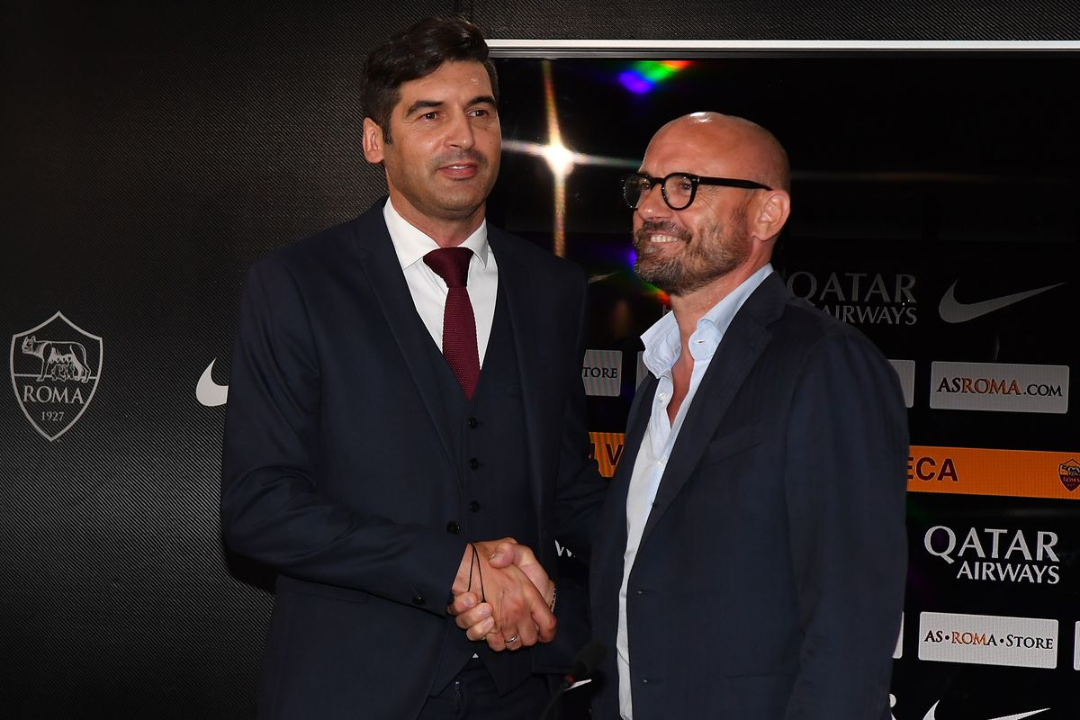AS Roma new coach Paulo Fonseca and AS Roma sport director...