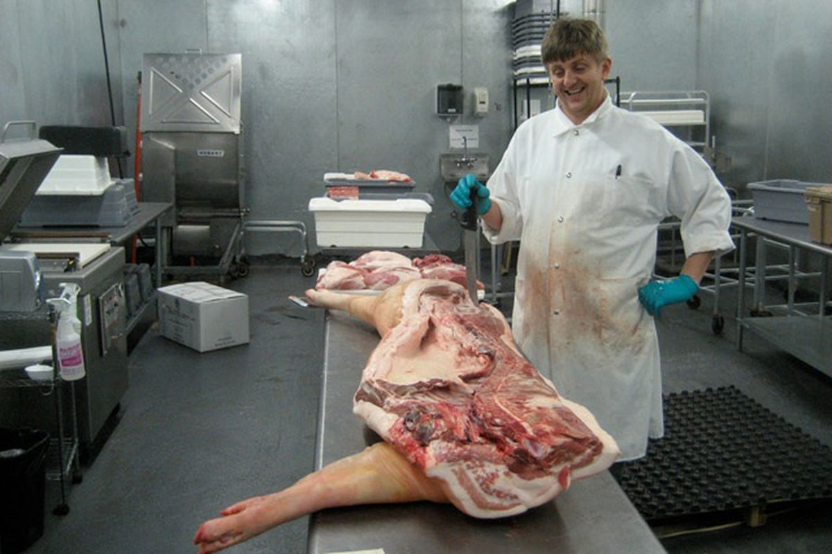 """Image of Morgan Brownlow and pig courtesy<a href=""""http://wweek.com/editorial/3536/12808/""""> Willamette Week</a>"""