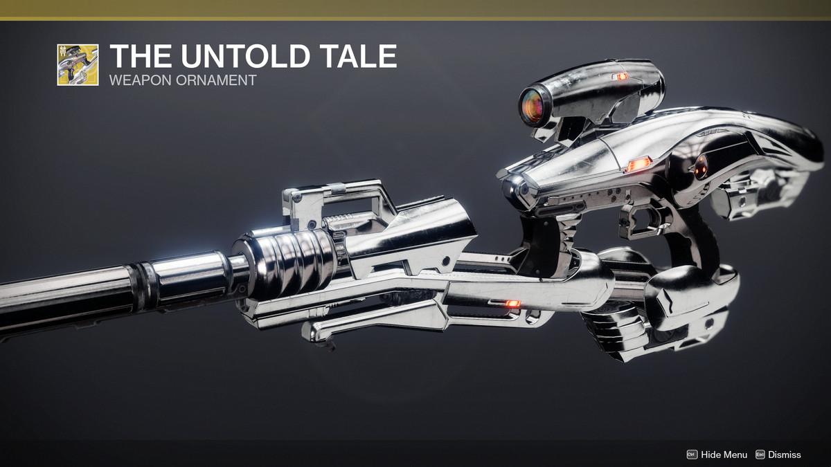 Destiny 2 Season of the Splicer The Untold Tale Vex Mythoclast ornamento