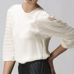 Georgette 3/4 Sleeve Long Top (Originally $193, Now $96.50)<br />