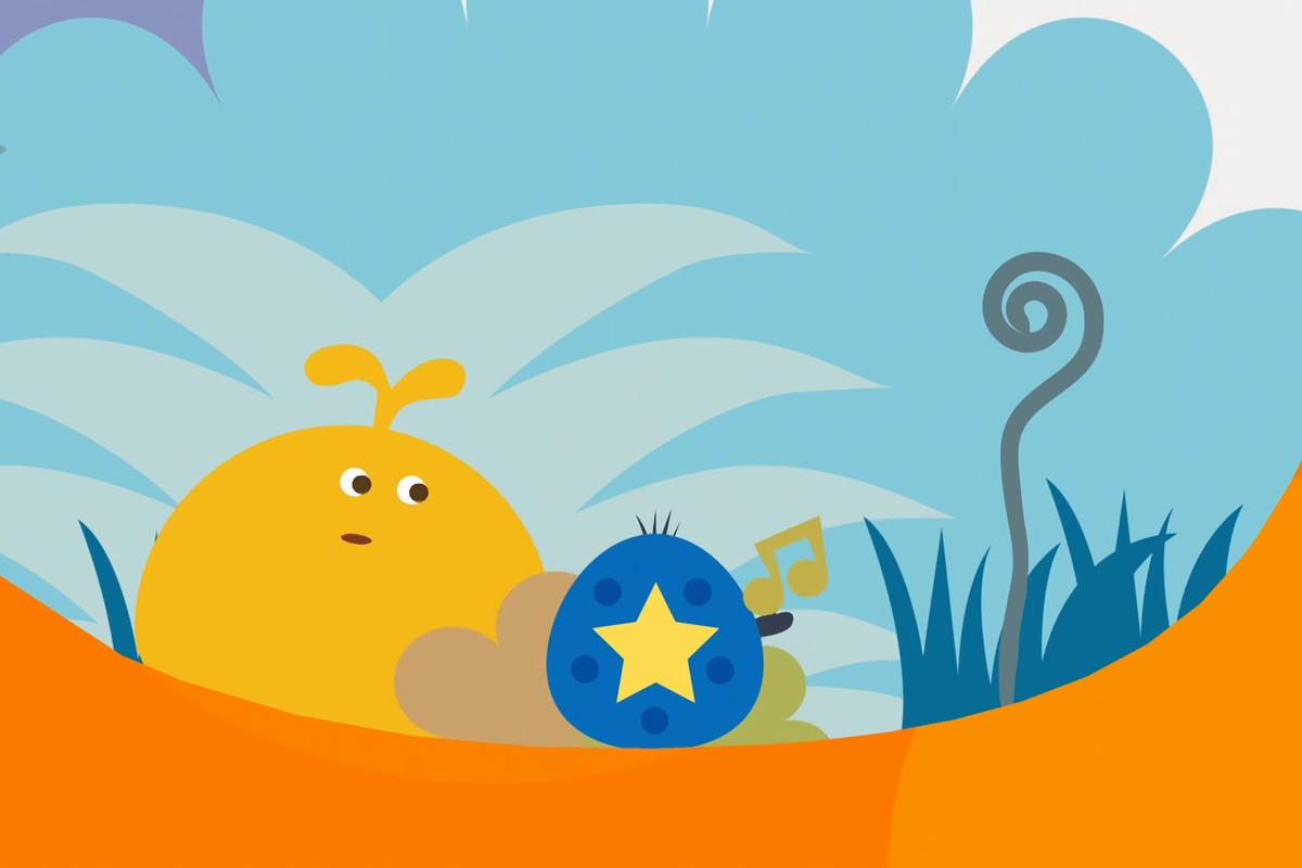 LocoRoco 2 - blue ball with yellow star
