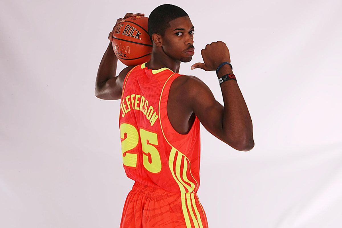 Amile Jefferson picks his school on Tuesday from