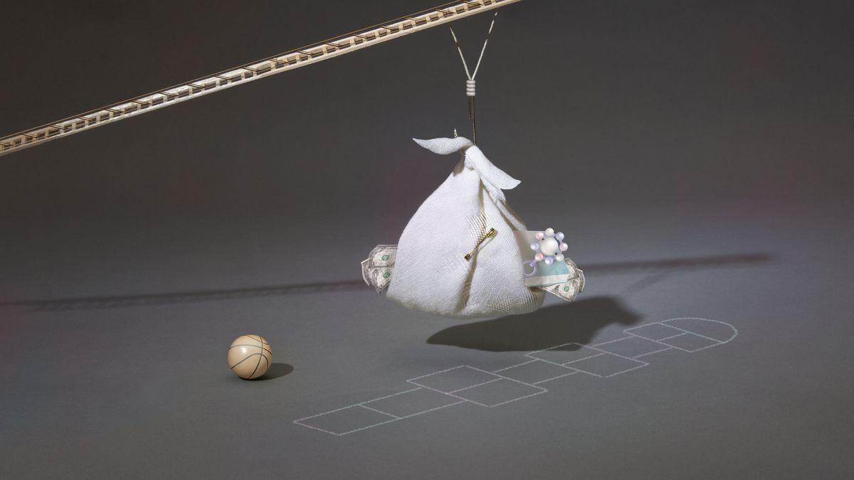 Illustration of a bundle on a crane