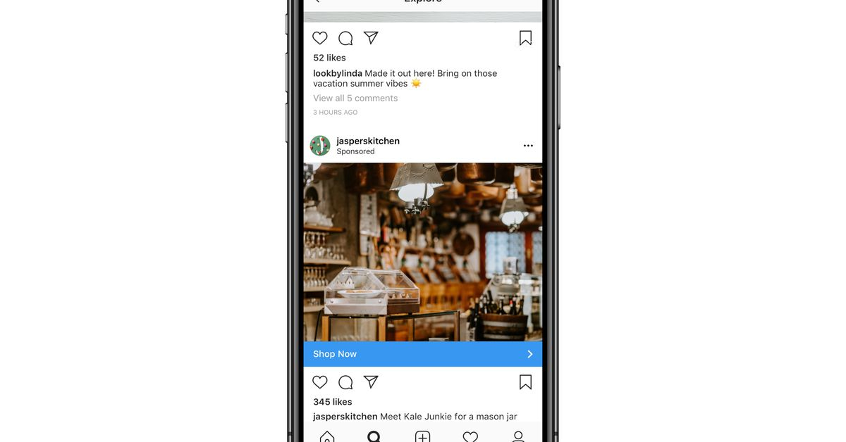 Techmeme: Instagram says it will roll out ads on its Explore page