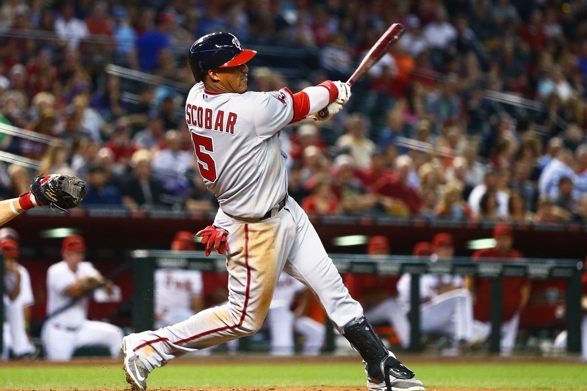 Yunel Escobar has been a pleasant surprise for the Nats so far in 2015.  Can he keep it up?