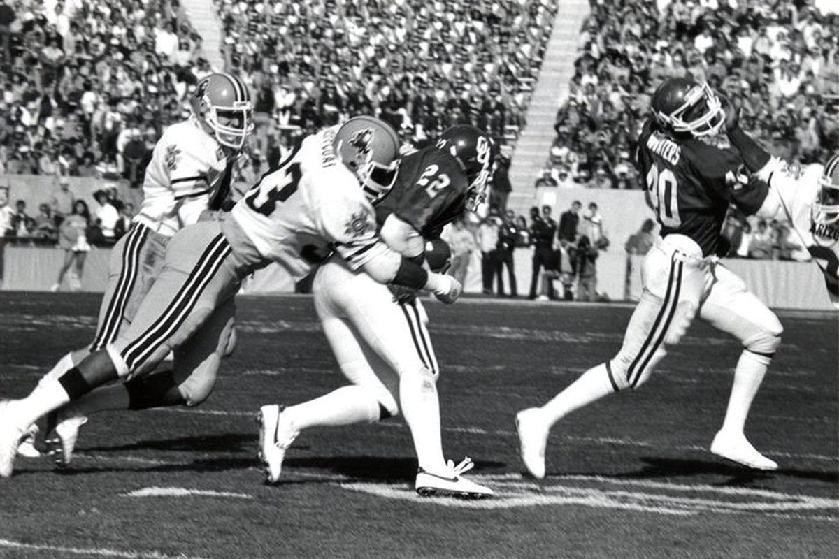 Jim Jeffcoat in the 1983 Fiesta Bowl (Photo: ASU)