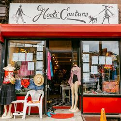 """<b>↑</b> As it says on the shop's website, <b><a href=""""http://www.hooticouture.com/"""">Hooti Couture</a></b> (321Flatbush Avenue) is a """"celebration of vintage."""" Every item in this cheerful boutique is hand-picked by owner Alison Houtte, who keeps her finger"""