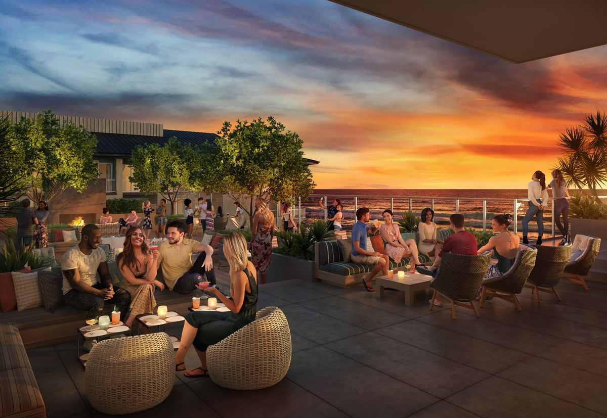 Rendering of The Rooftop at Mission Pacific