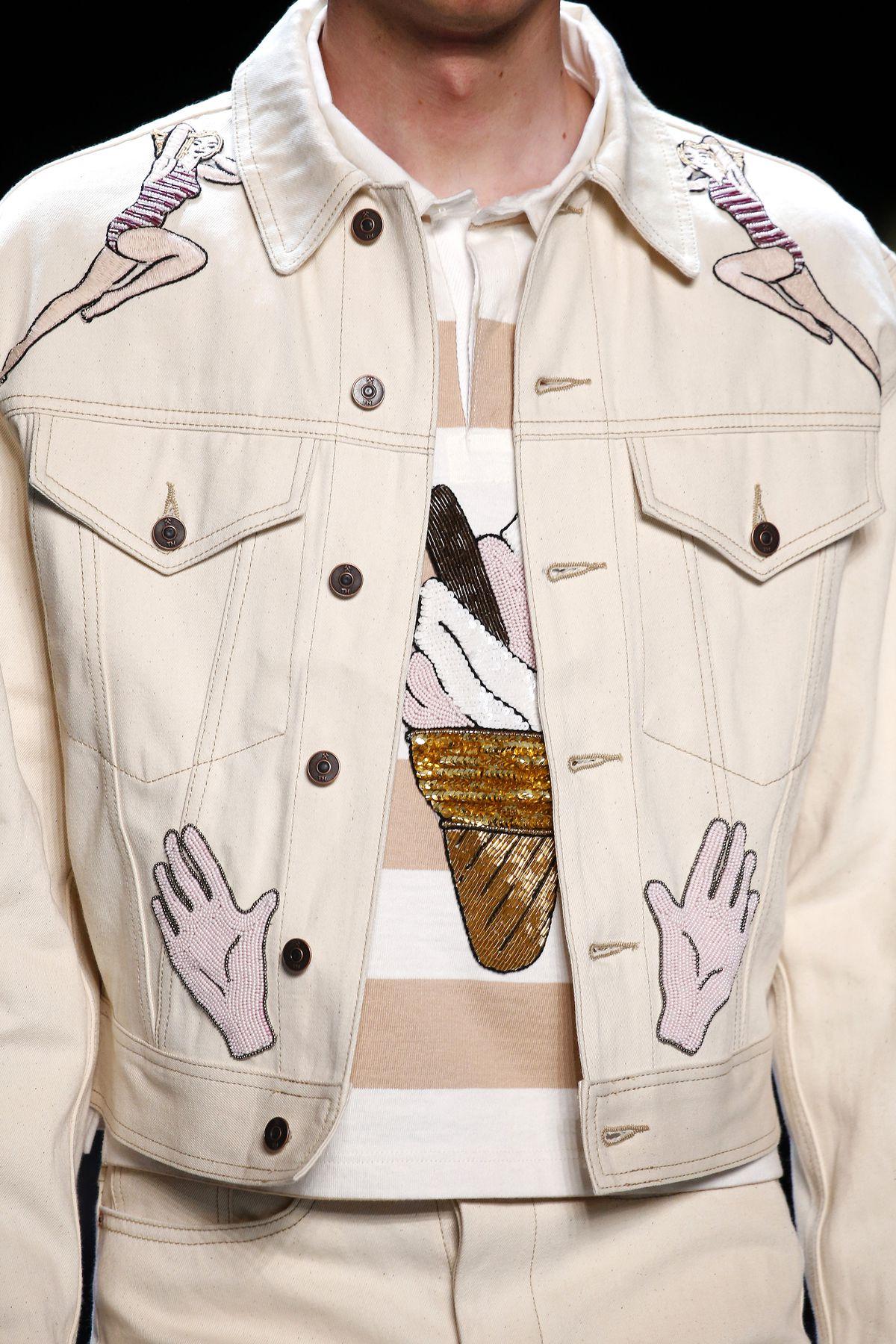 Jacket closeup from Topman's runway show