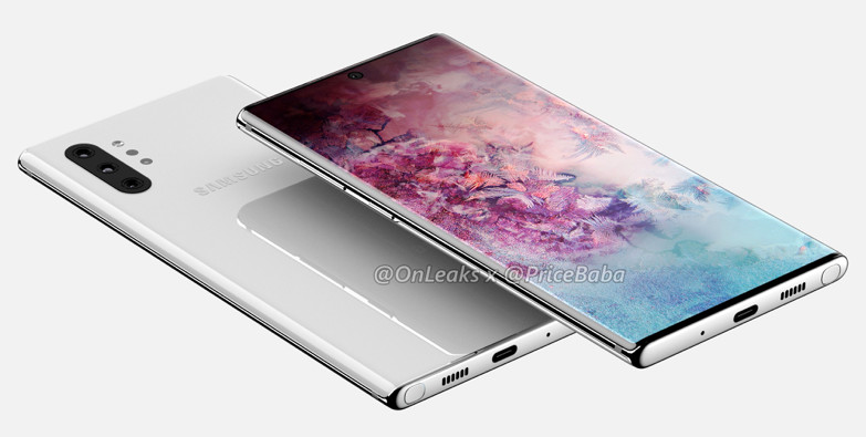 Samsung Galaxy Note 10 renders reveal giant screen and no headphone jack 1