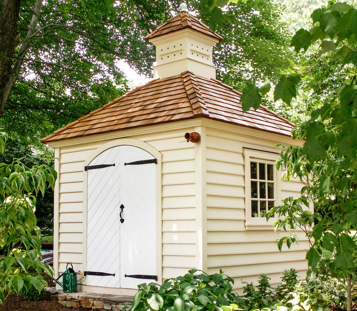 Garden Shed With Hip Roof And Pyramidal Cap