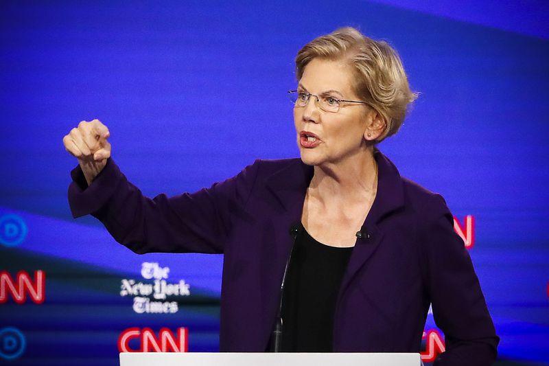 Sen. Elizabeth Warren (D-MA) during the October Democratic debate.