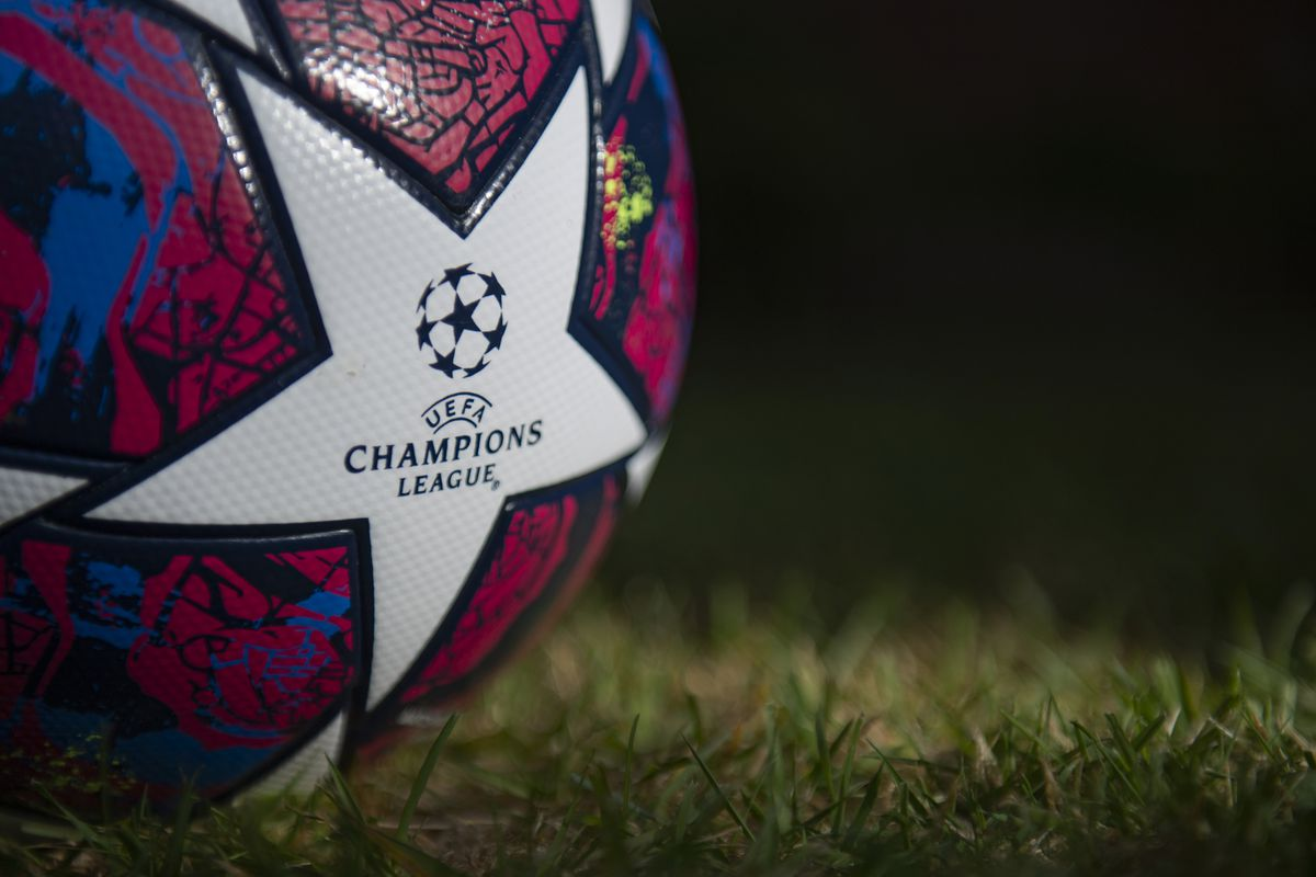 The Starball, the official Adidas UEFA Champions League Match Ball on May 5, 2020 in Manchester, England.