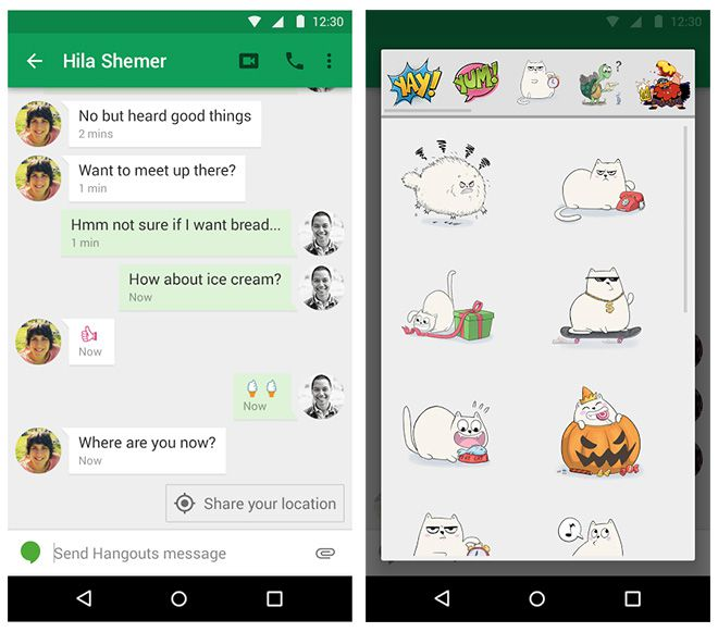 Googles new hangouts app introduces clever location sharing the hangouts stopboris Images