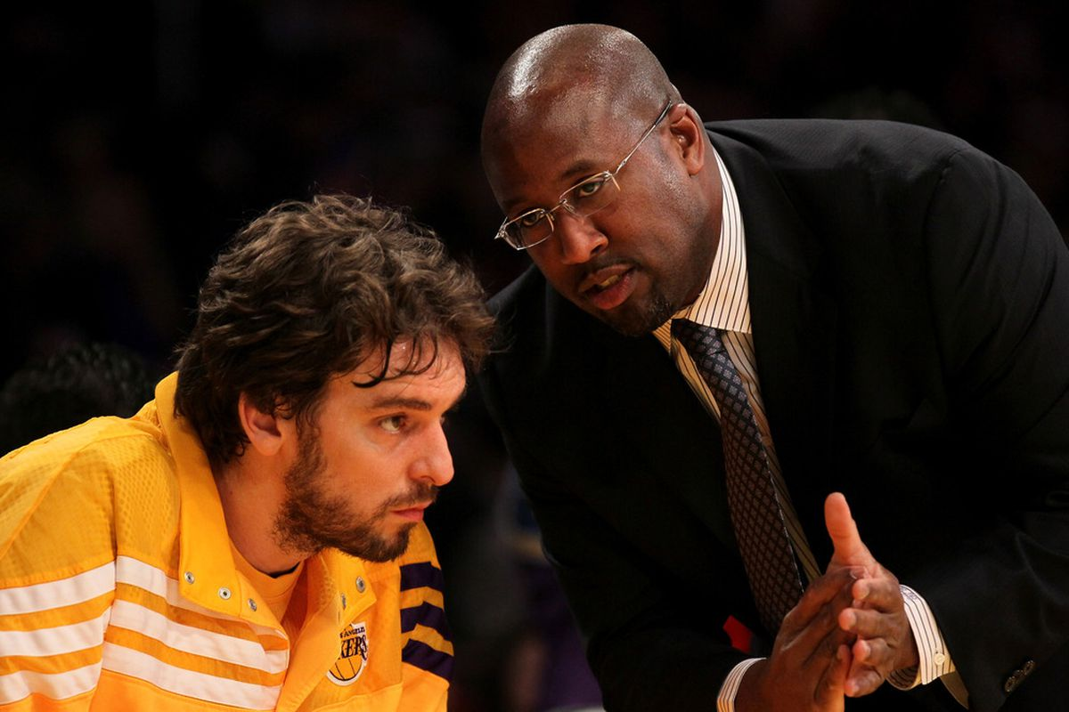 """Brown: """"So, we went out and got Steve Nash to run pick-and-roll with you, and are going to implement an offense that was basically made for your skills. Like me now?"""" (Photo by Stephen Dunn/Getty Images)"""