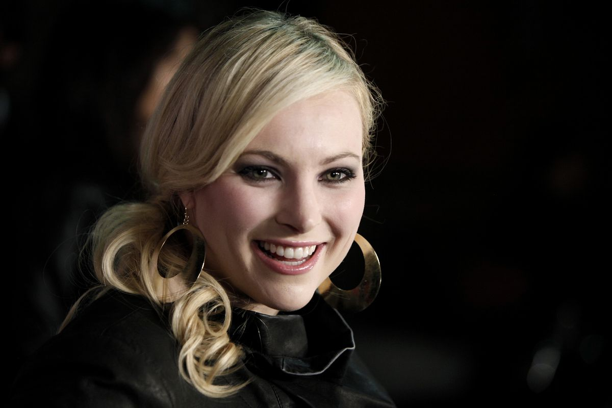 This March 28, 2009, file photo shows Meghan McCain, daughter of Sen. John McCain, arriving at Perez Hilton's 31st Birthday Party in West Hollywood, Calif.