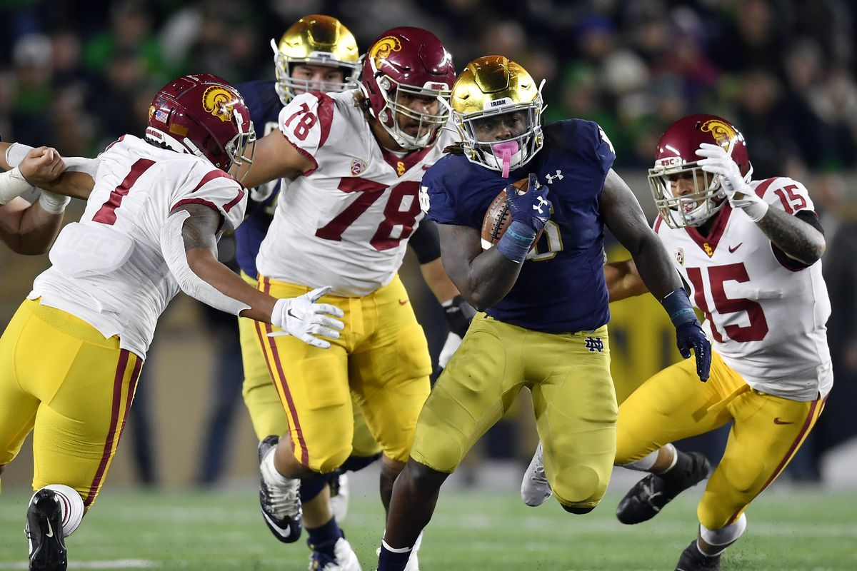 Notre Dame RTDB against USC and it led to an offensive breakthrough