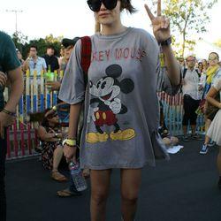 Singer Sky Ferreira was having a Disney moment during Future Islands' set.