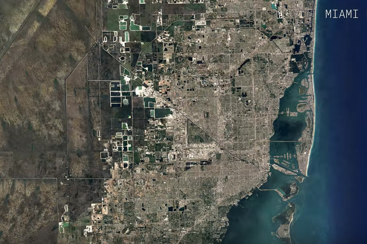 Watch a Google Maps time-lapse of Miami\'s growth over 32 years ...