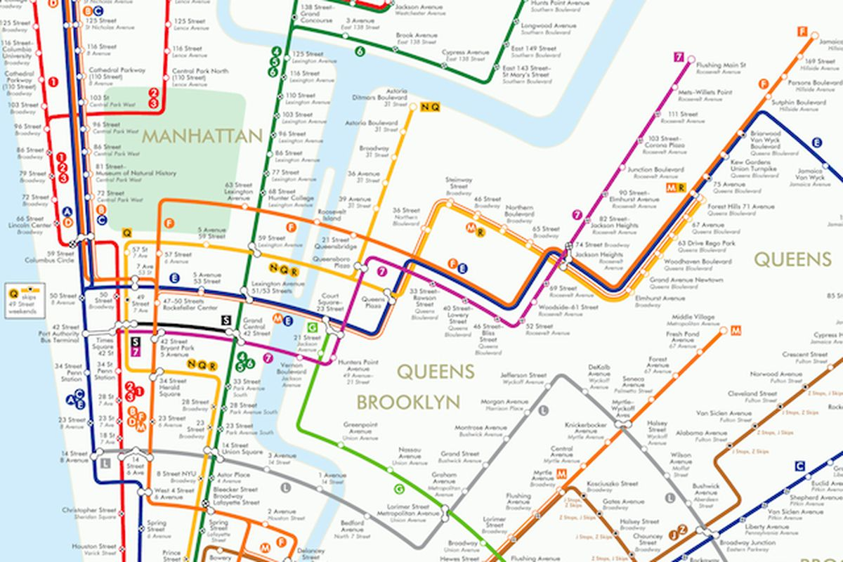 Latest Nyc Subway Map.Circular Subway Map Reimagines New York As A Colorful Geometric
