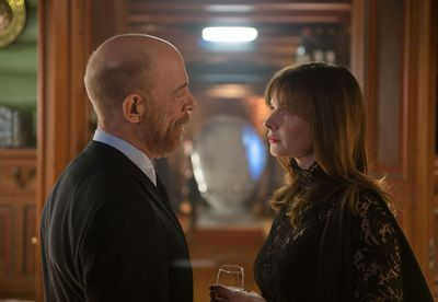 J.K. Simmons and Rebecca Ferguson in The Snowman
