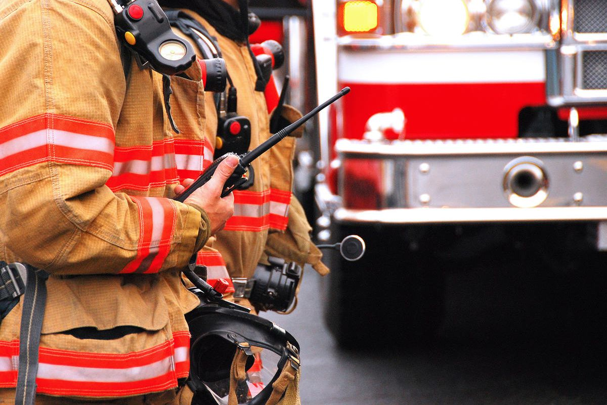 It took firefighters just under an hour to control a blaze that damaged a house in an historic area of Salt Lake City Saturday.
