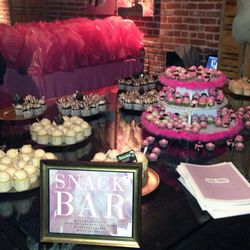The snack bar offered Bakers Rack mini cupcakes and Brewcakes' beer infused cupcakes