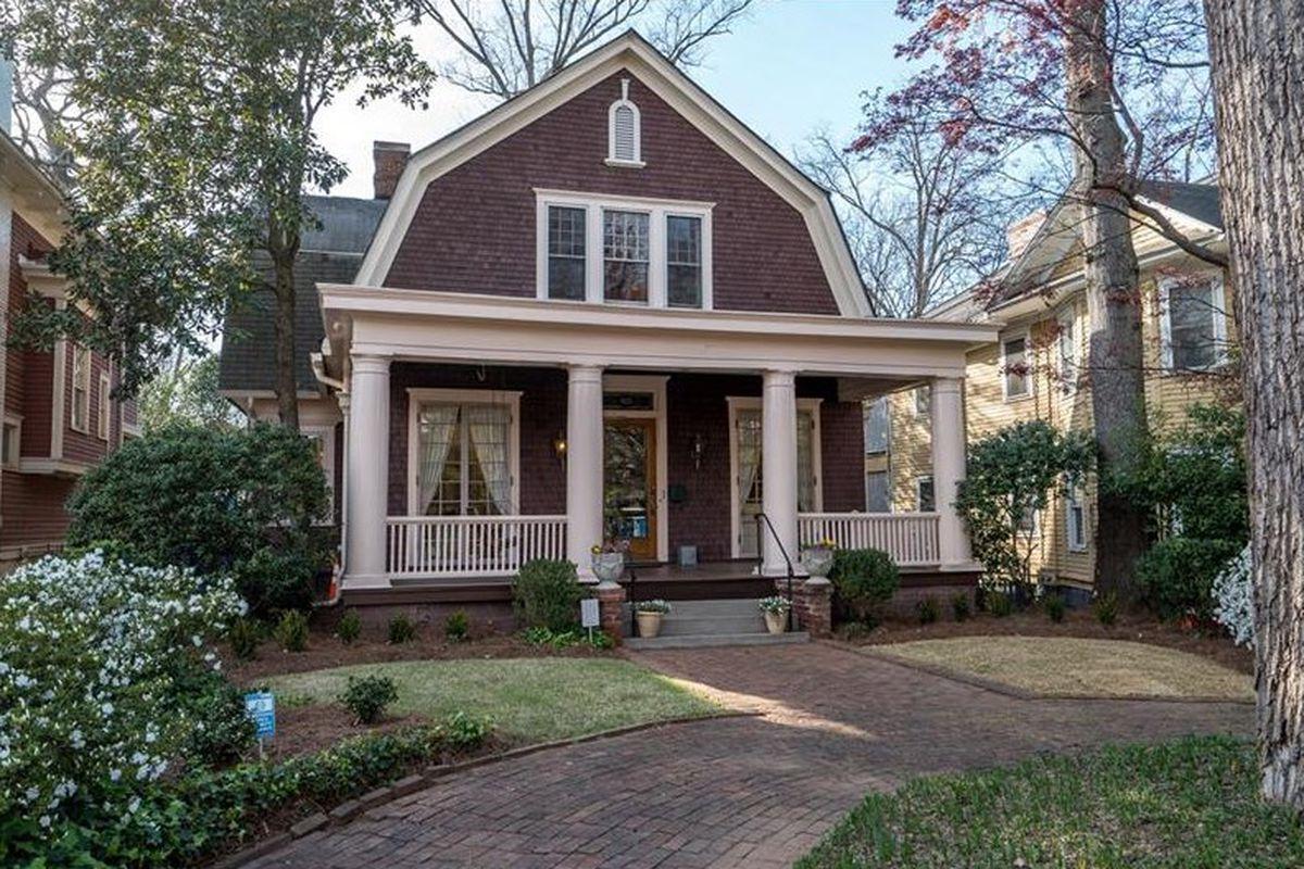 A massive historic home for sale near Piedmont Park in Midtown Atlanta.