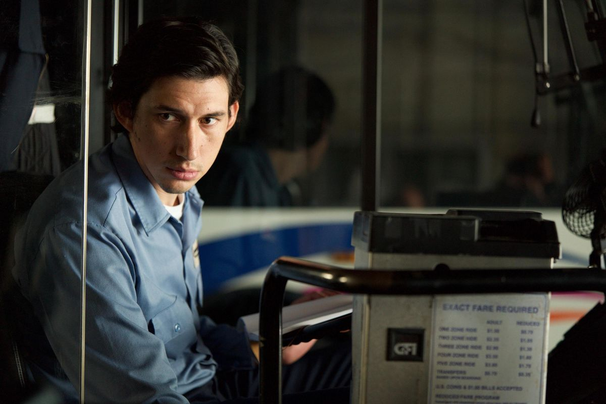 Adam Driver plays a bus driver named Paterson in Paterson.