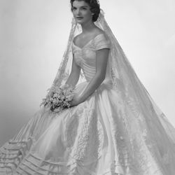 On September 12th, 1953 in Newport, Rhode Island, Jacqueline Lee Bouvier officially became Jackie Kennedy in an intricate Anne Lowe gown.
