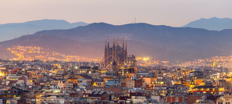 The Sagrada Familia, in Barcelona.