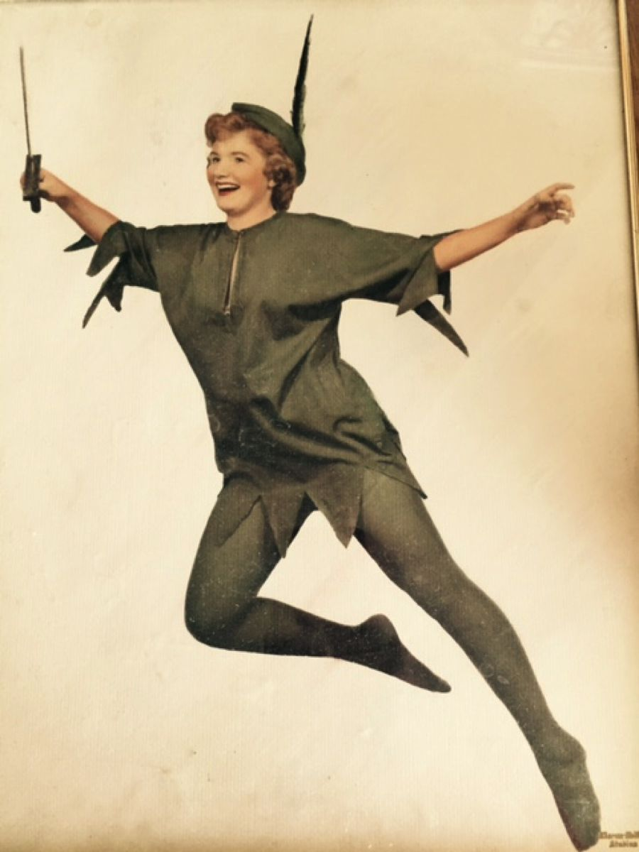 """Kathleen Ruhl flying high as the title character in a long ago community theater production of """"Peter Pan.""""   SUPPLIED PHOTO"""