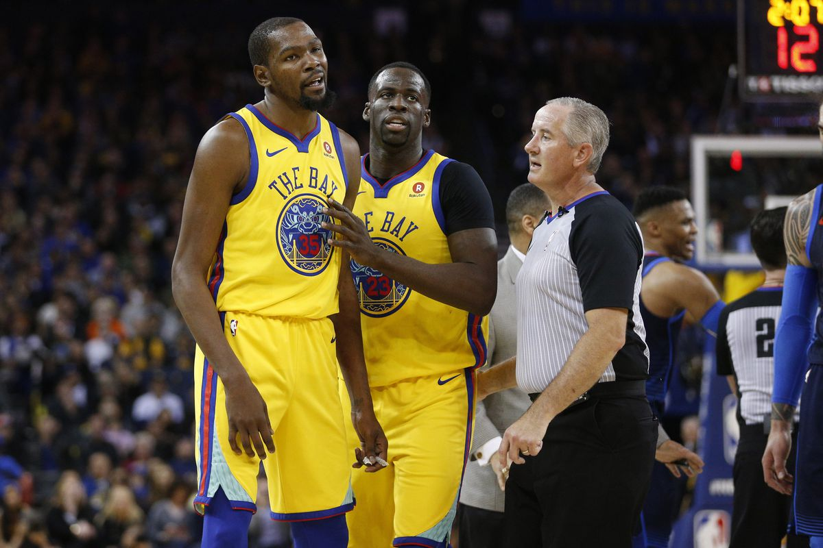 save off b9ed3 2c306 A history of Kevin Durant and Draymond Green's Warriors ...