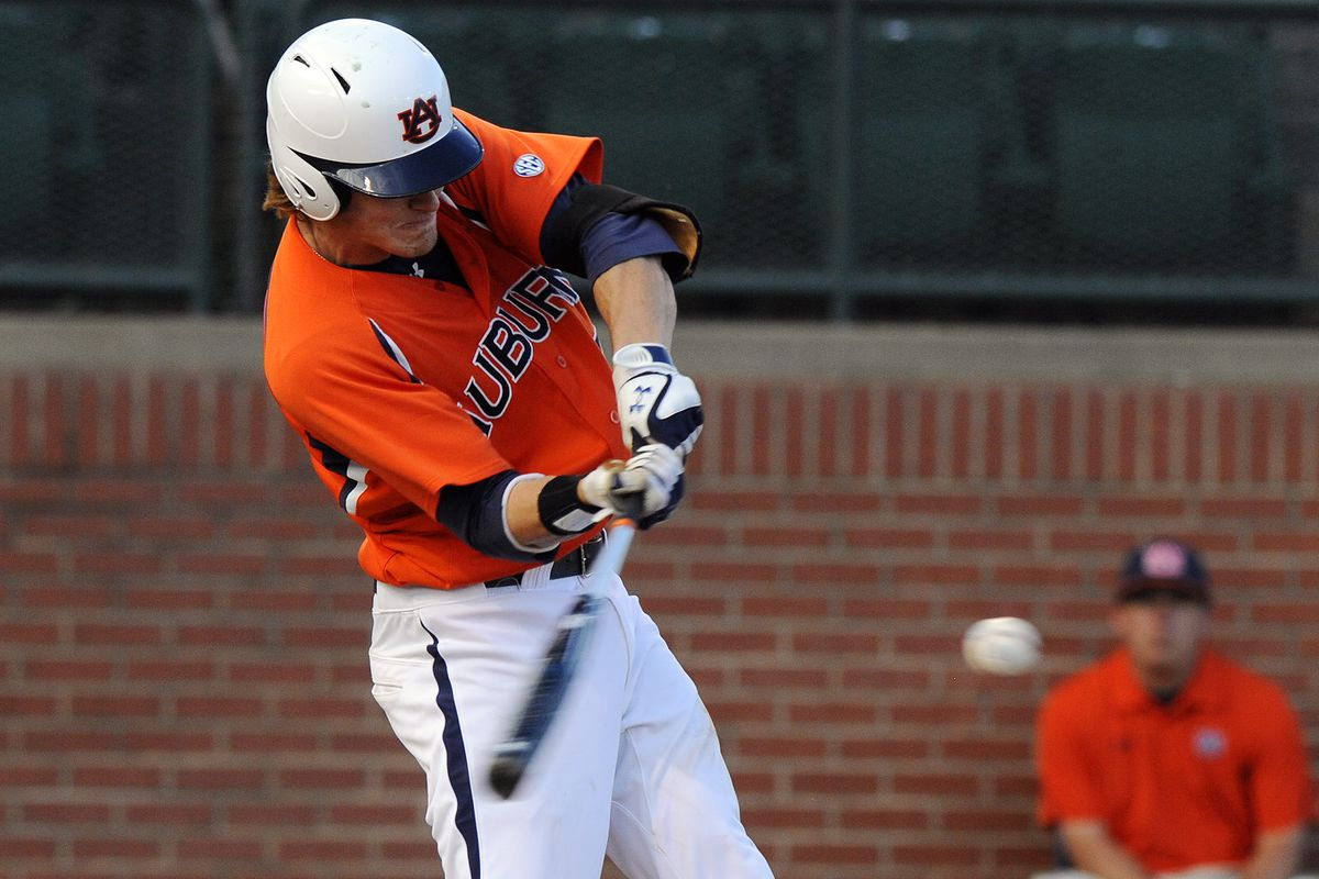 Auburn will occasionally swing their bats.