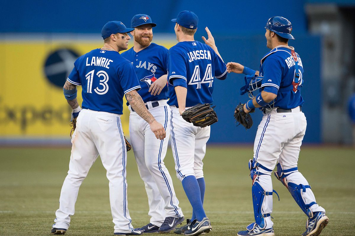 Casey Janssen in better times: will he join the other three who are now ex-Jays?