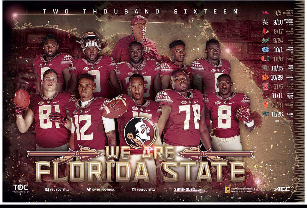 2019 Fsu Football Schedule Florida State releases annual football schedule posters   Tomahawk