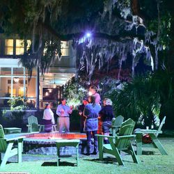 At the end of the night, attendees retired to the fire pits to eat s'mores and wind down.