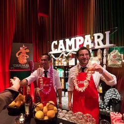 Campari stall on Saturday night