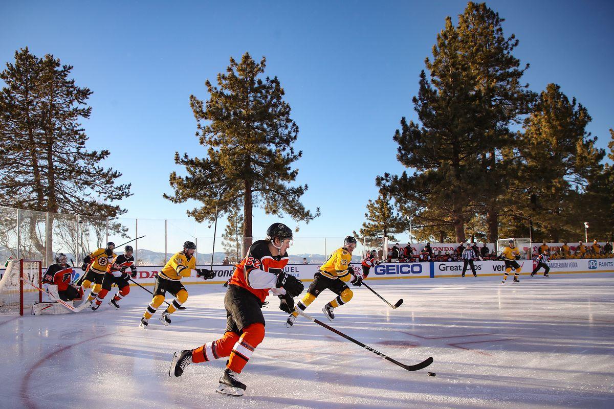NHL Outdoors At Lake Tahoe - Philadelphia Flyers v Boston Bruins