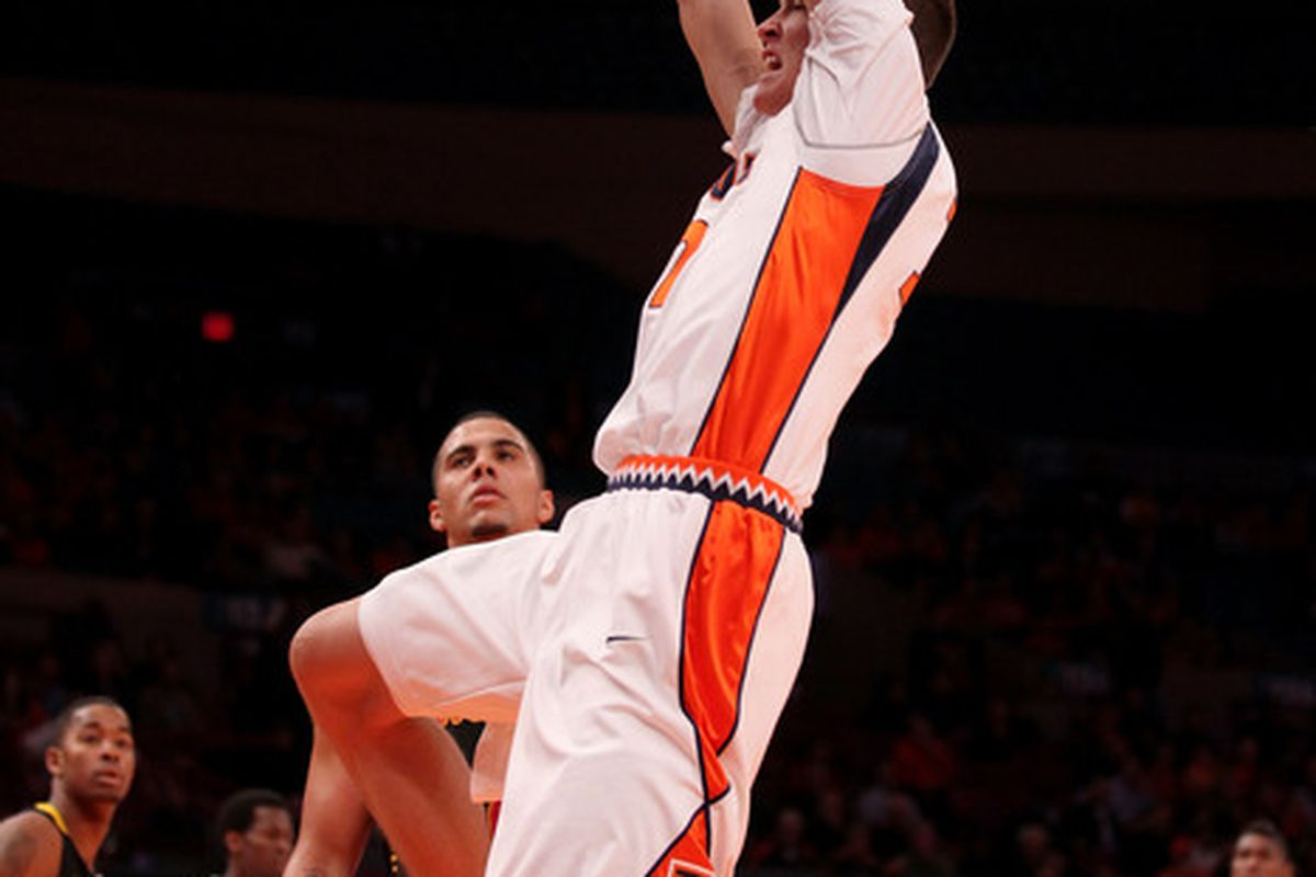 Meyers Leonard is the big man on campus at Illinois. (Photo by Chris McGrath/Getty Images)