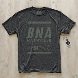 """We're breaking out of the big markets a bit and doing shirts for places that are more known for culture, music, arts. Loving the colors we picked for Music City. [Nashville Tee ($32) available via <a href=""""http://pilotandcaptain.com/"""">Pilot & Captain</a>"""