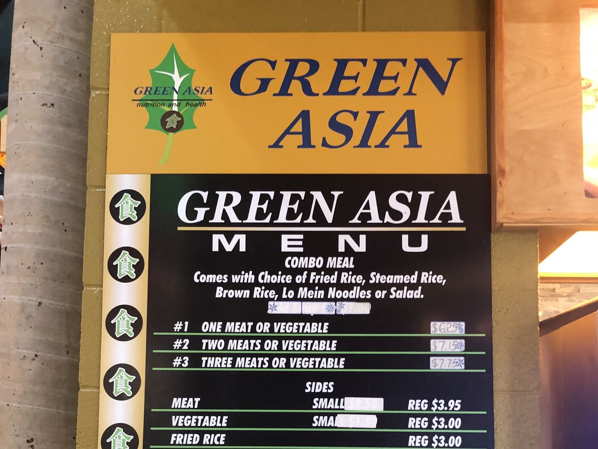 green Asia menu at Nashville Farmers Market