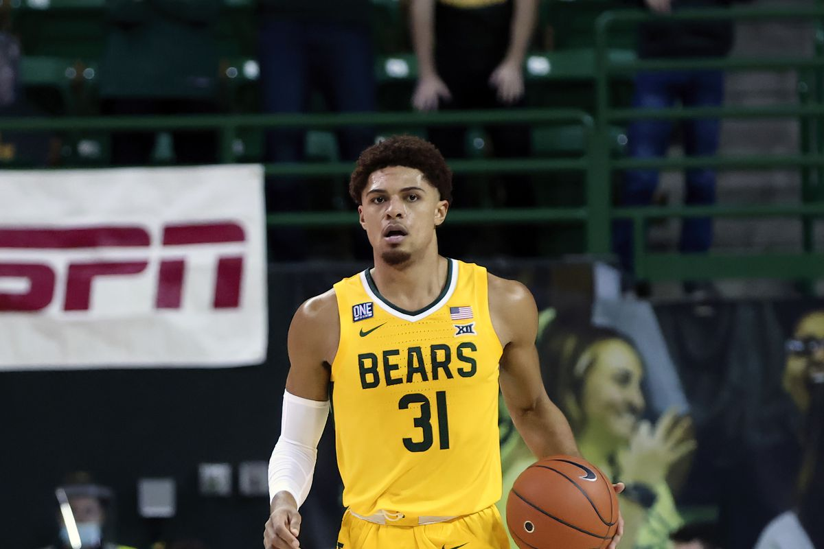 Baylor Bears guard MaCio Teague in action during the game against the Oklahoma Sooners at Ferrell Center.